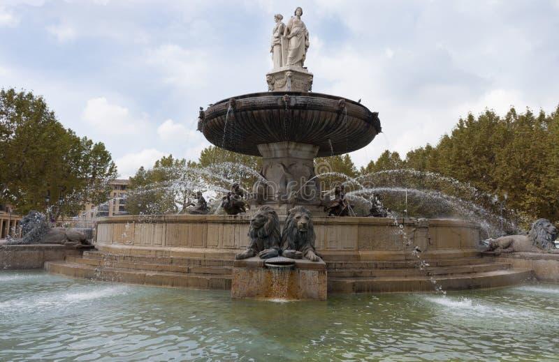 Fountaine de la Rotonde dans des Frances d'Aix en Provence photo stock