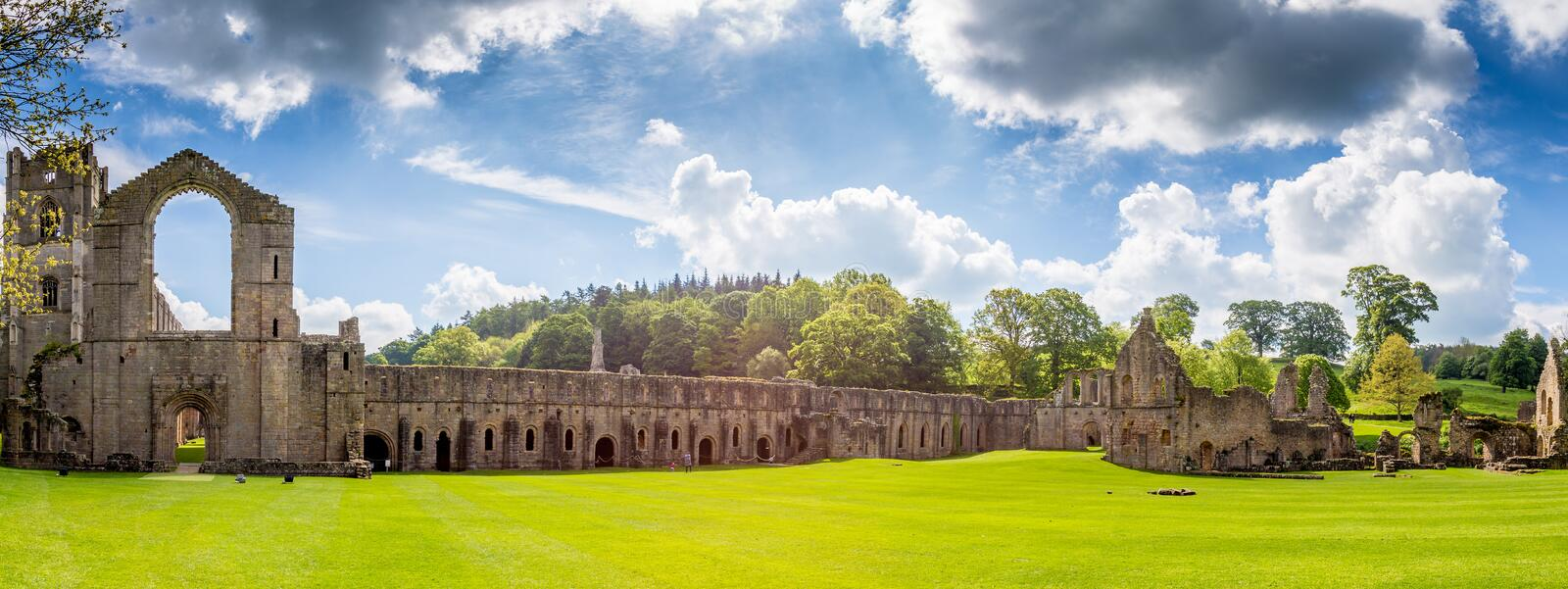 Fountains Abbey North Yorkshire. Fountains Abbey Ripon in North Yorkshire royalty free stock photo