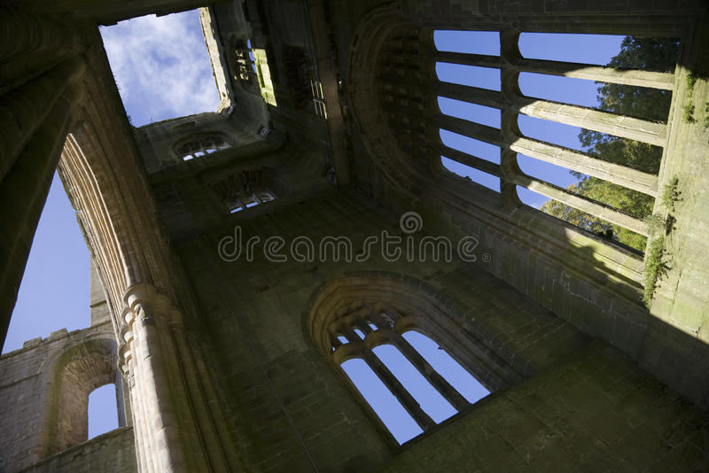 Fountains Abbey Yorkshire England stock photography