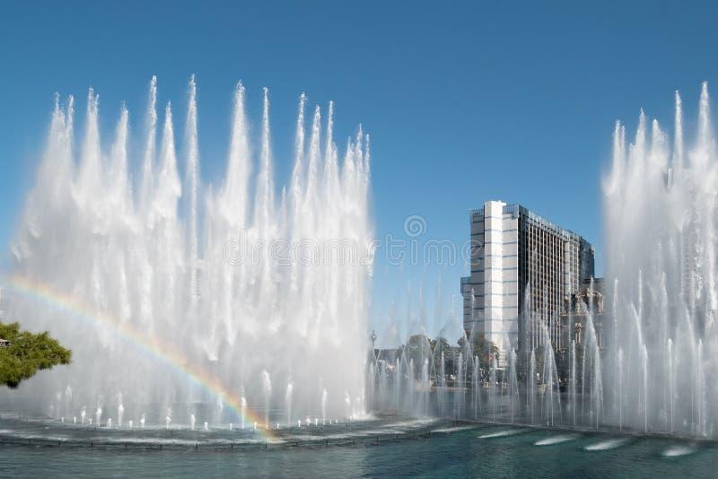 Fountains of Bellagio. The beautiful Bellagio Fountains on the Las Vegas Strip - Las Vegas, Nevada stock images