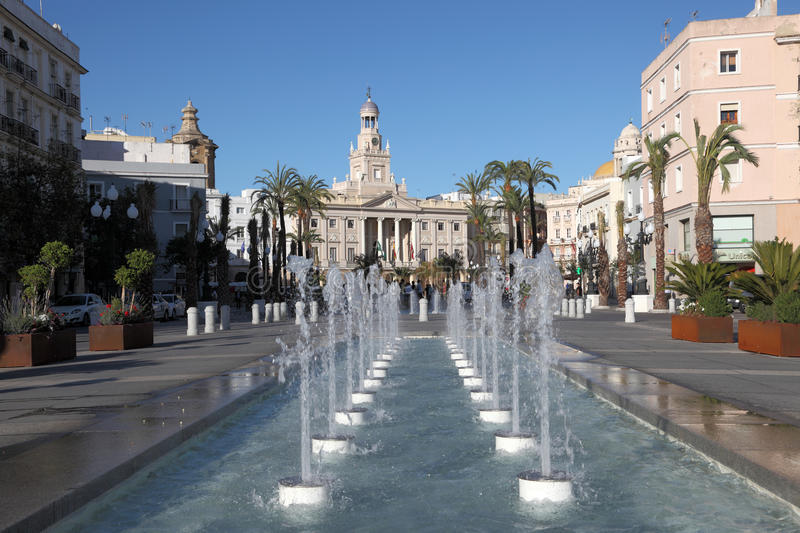 Download Fountains in Cadiz, Spain editorial photography. Image of spain - 25182447