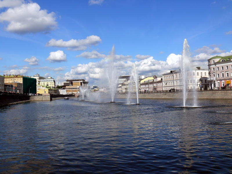 Download Fountains In Obvodnii Chanel In Moscow Stock Photo - Image: 16602090