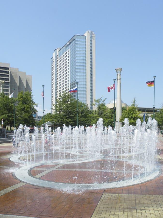 Fountains of Olympic park of Atlanta royalty free stock photo