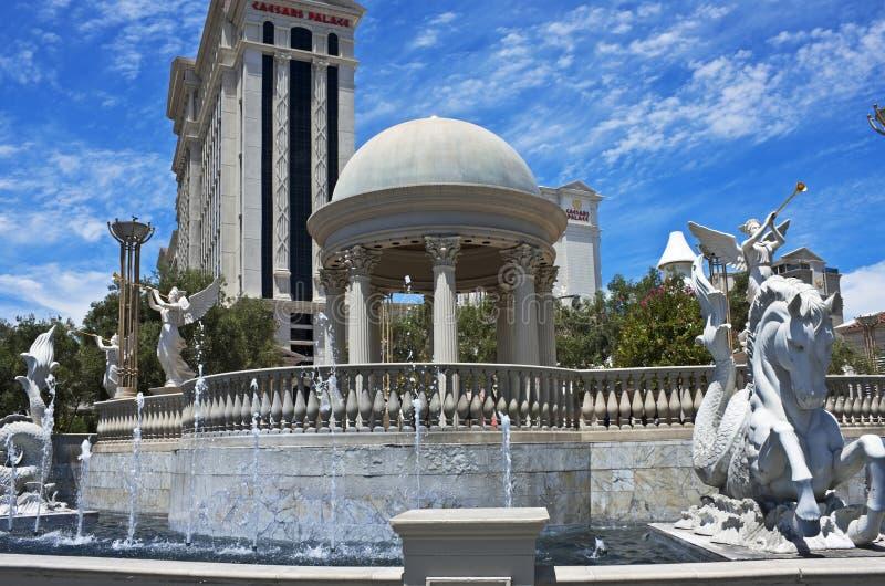 Fountains of Rome, Las Vegas style royalty free stock photo
