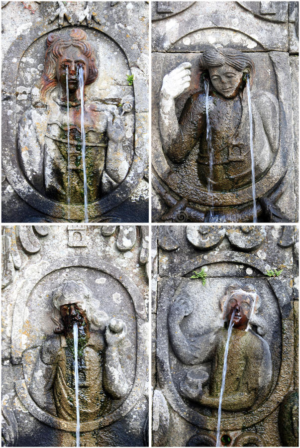 Fountains of sanctuary Bom Jesus do Monte, Braga. The Santuario Bom Jesus do Monte (Shrine of Good Jesus of the Mountain) is a hilltop Catholic pilgrimage site stock photography