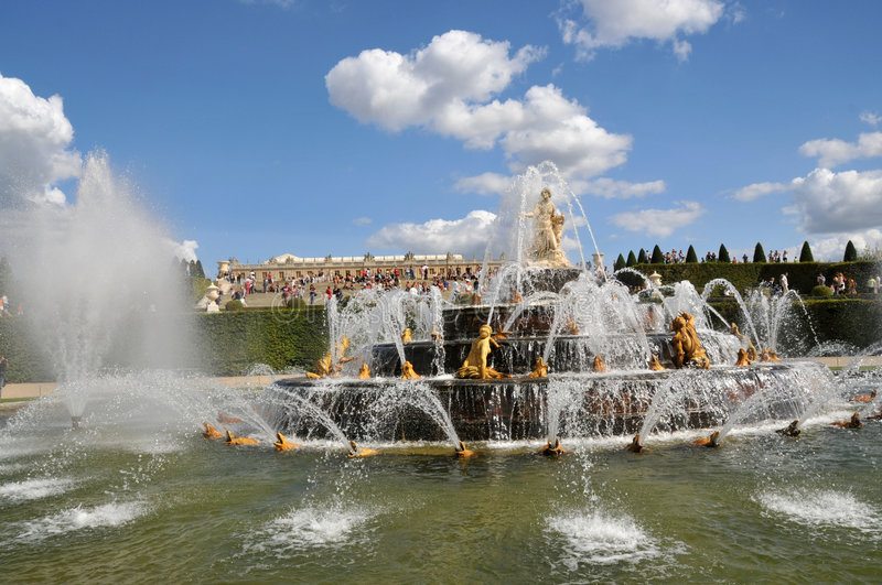 Fountains of versailles royalty free stock photo