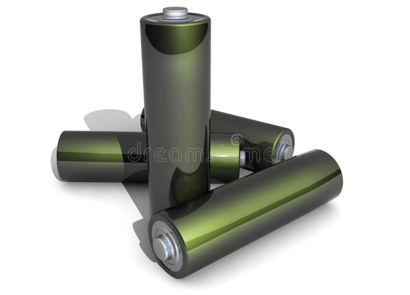 Download Four AA Battery On White Backgound Stock Illustration - Illustration of white, volt: 32263752