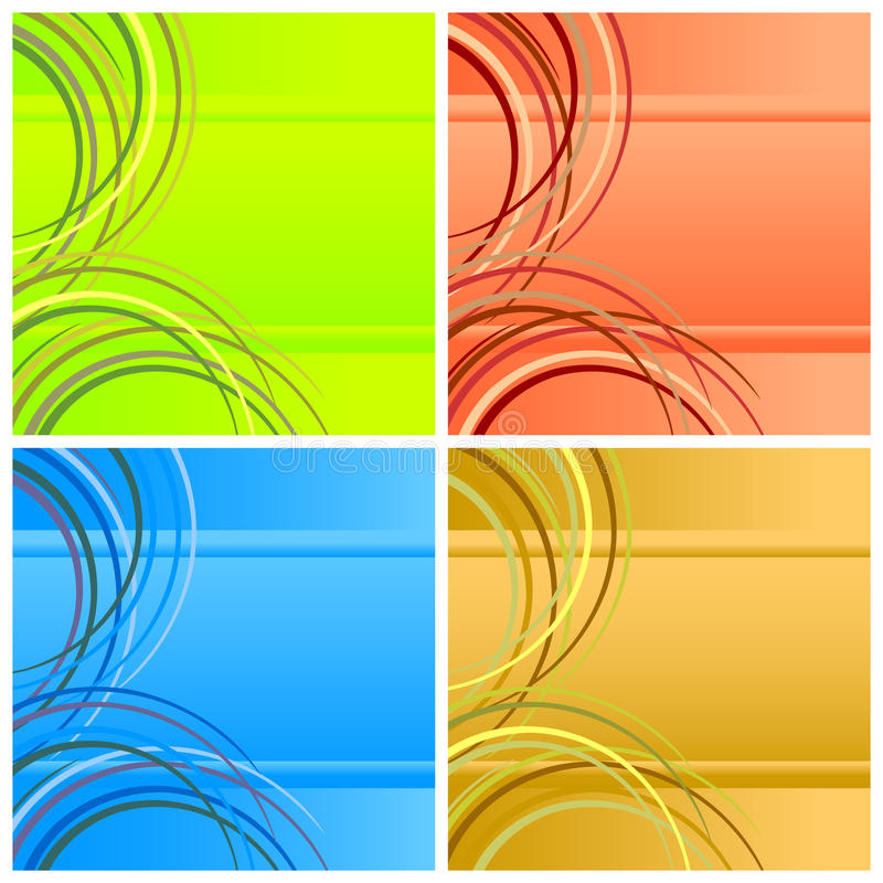 Free Four Abstract Backgrounds. Royalty Free Stock Photos - 13817618