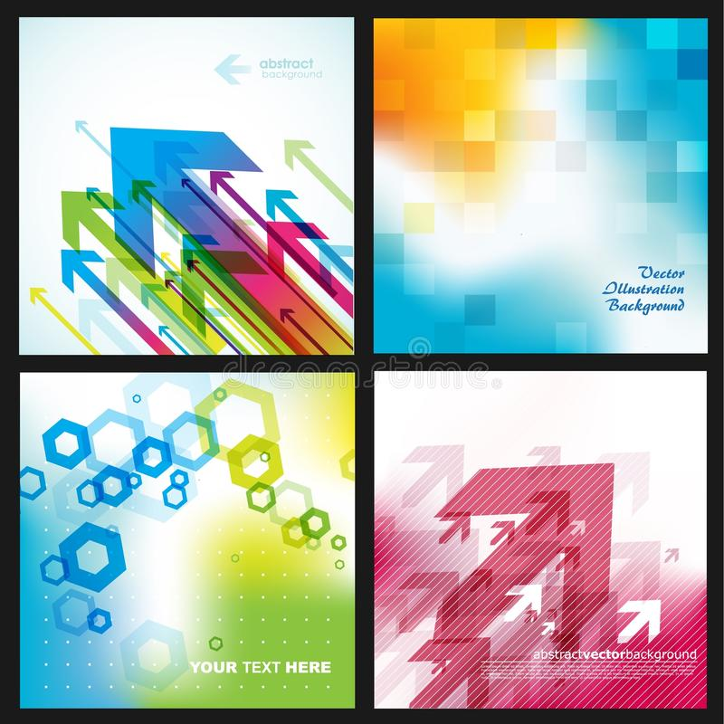 Four abstract backgrounds. vector illustration