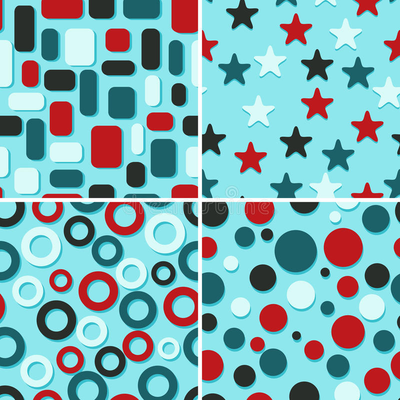 Four abstract patterns royalty free illustration
