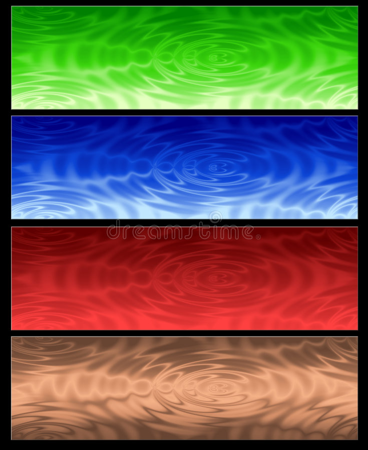 Free Four Abstract Web Banner Stock Photography - 6505502
