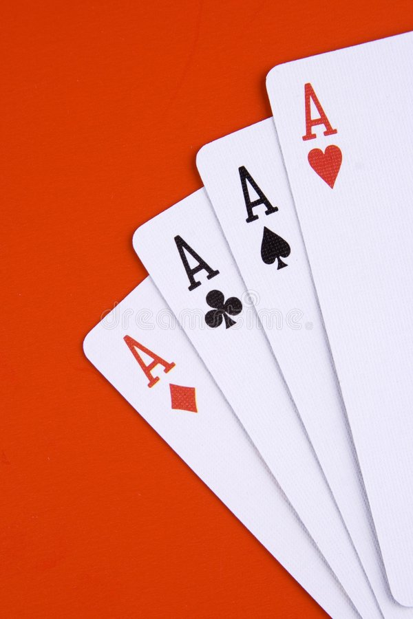 Four ace royalty free stock photos