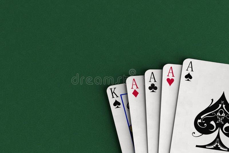Four aces vector illustration