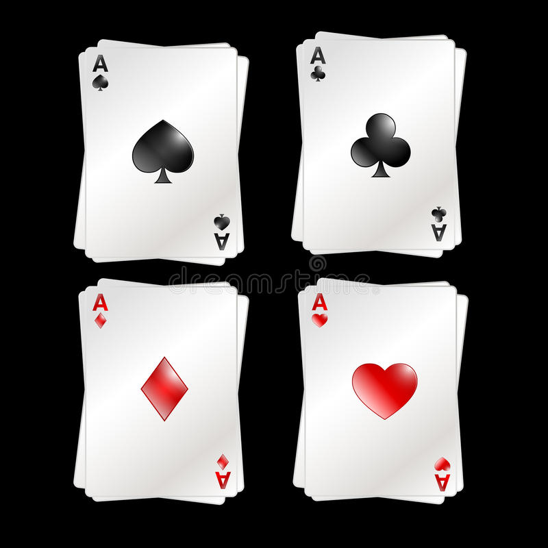 Download Four Aces stock illustration. Illustration of deck, illustration - 23050143