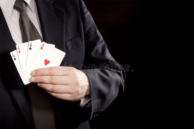 Four aces royalty free stock photos