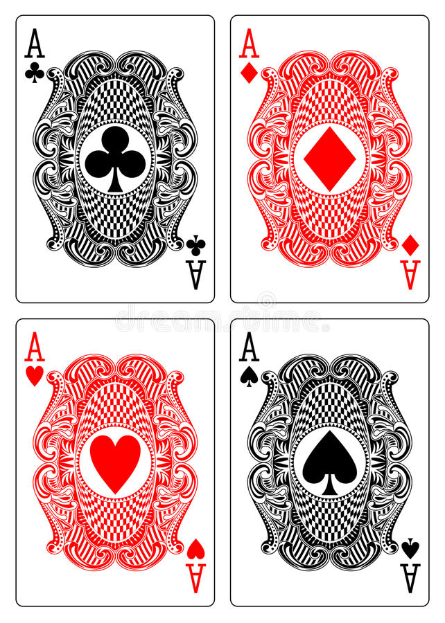 Download Four Aces Club Diamond Heart Spade Stock Vector - Illustration: 21748082