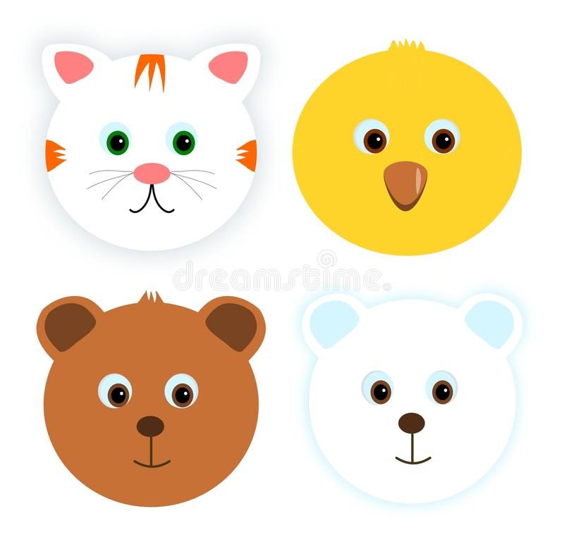 Download Four Animal Faces Royalty Free Stock Images - Image: 11668229