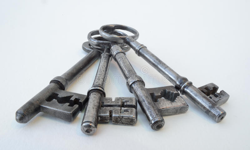 Four Antique Keys stock photos