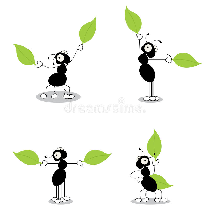 Download Four Ants Dirrecting Traffic Stock Vector - Image: 21530285