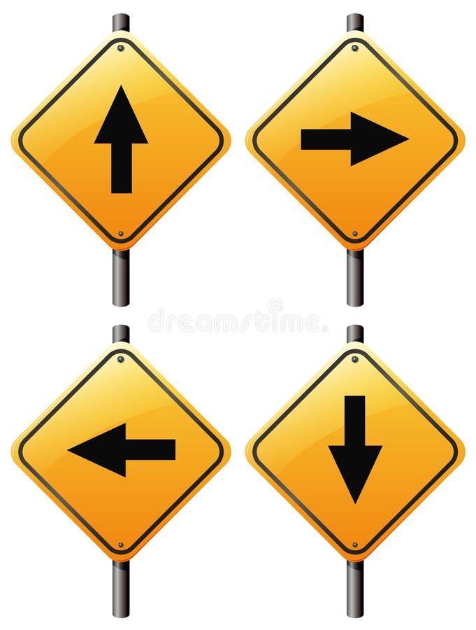 Four arrow signs vector illustration
