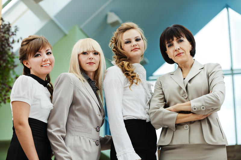 Four attractive business woman royalty free stock image