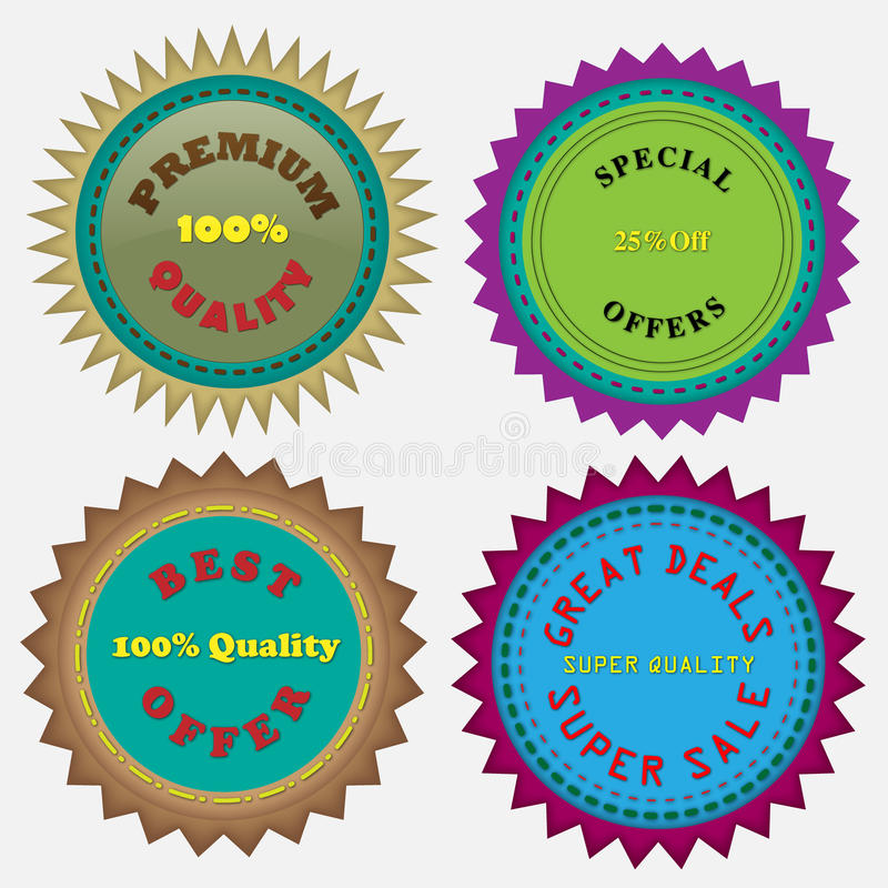 Four Badges stock images