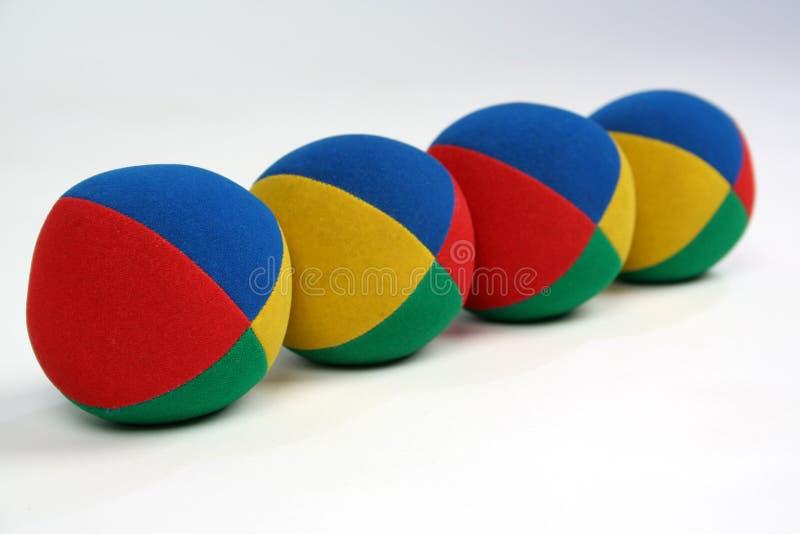 Four balls stock photos