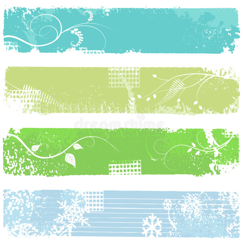 Four banners - vector set royalty free stock images