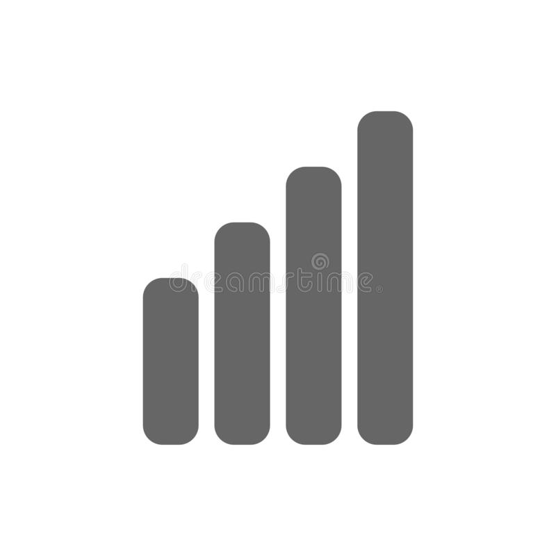 Four bars for displaying phone network signal stock illustration