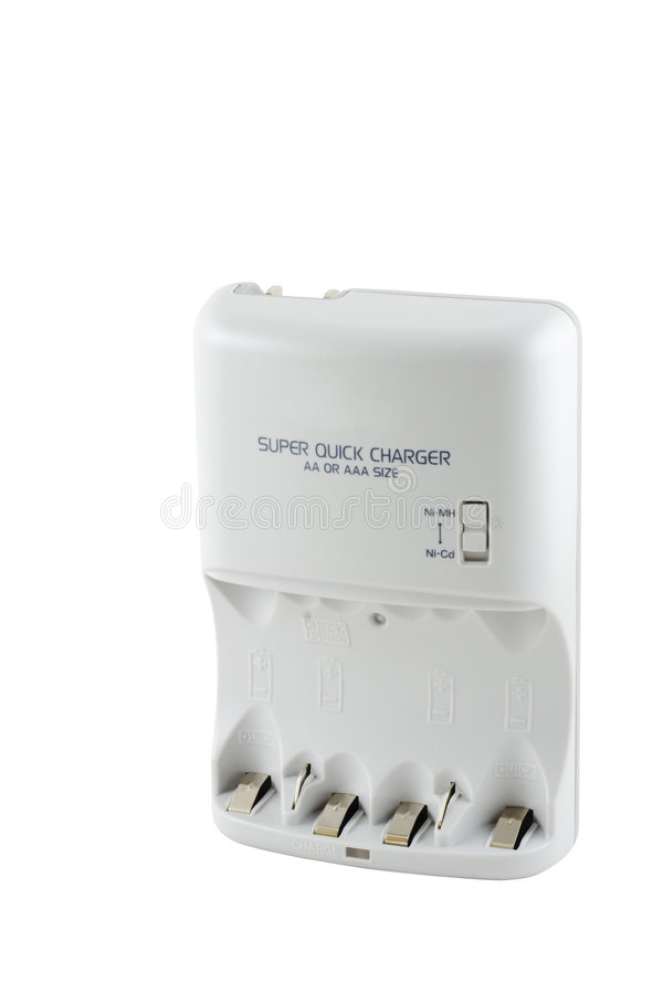 Four Battery Charger Stock Photo