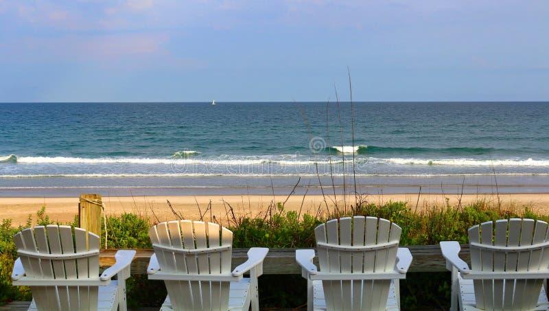 Peaceful beach in North Carolina stock photos