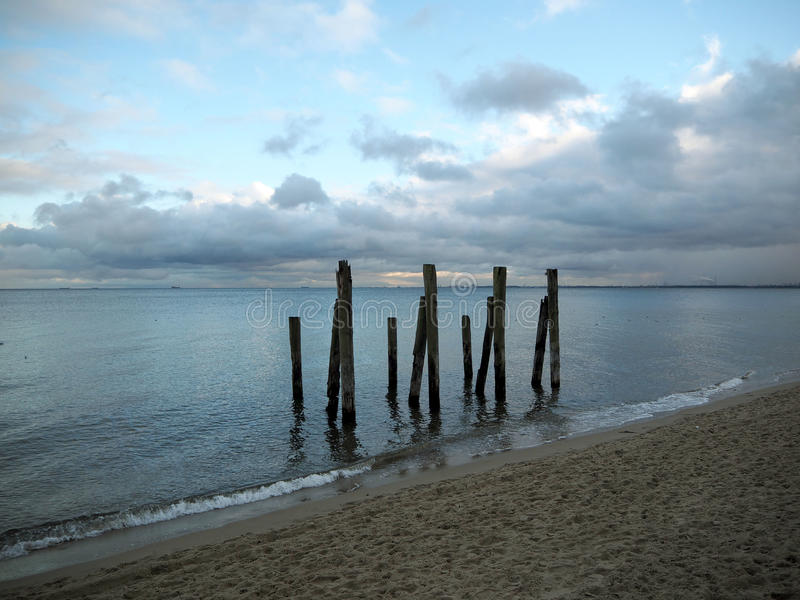 Download Four Beams Of The Pier Stock Photo - Image: 83706309