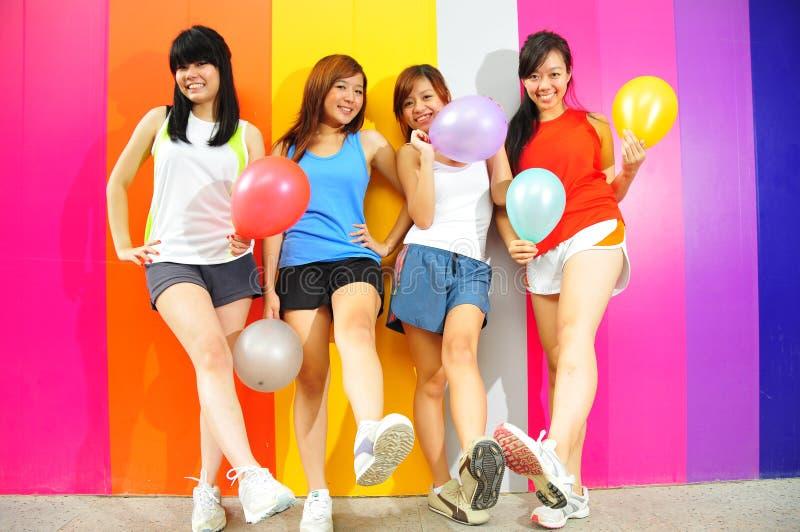 Four Beautiful Girlfriends Stock Photos
