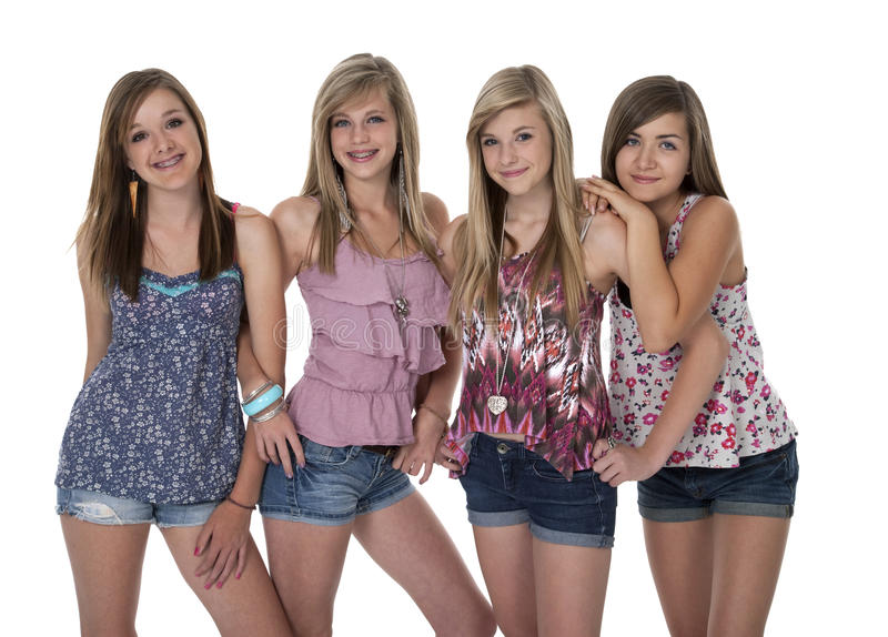 Download Four Best Girlfriends stock image. Image of caucasian - 22655213
