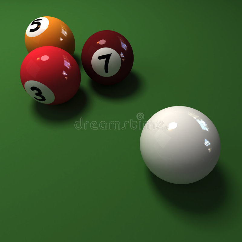 Four billiard balls royalty free illustration