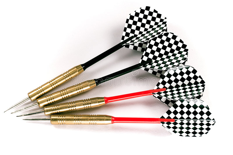 Download Four black and red darts stock photo. Image of toss, shoot - 240050