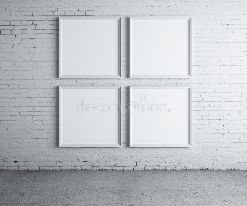 Four blank frame royalty free stock photos