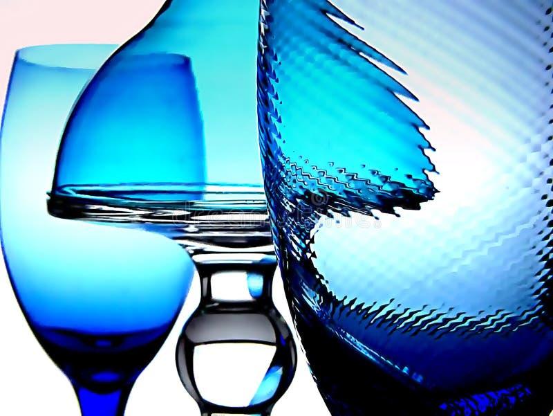 Four Blue Glasses Royalty Free Stock Photos