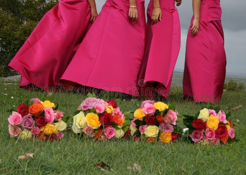 Four bouquets stock photo
