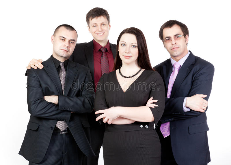 Four business people royalty free stock photography