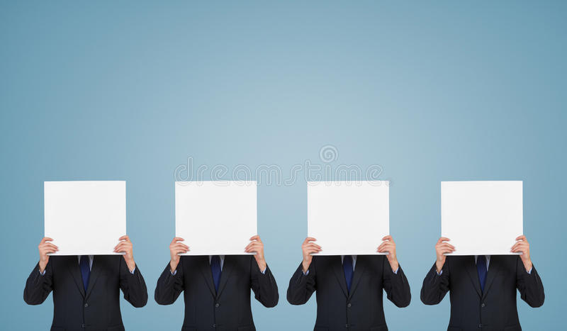 Four businessman royalty free stock photography
