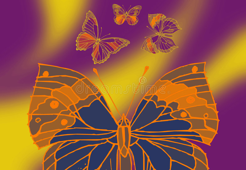Download Four Butterfly stock illustration. Illustration of moth - 2649105
