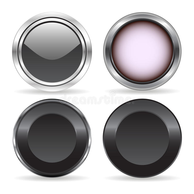 Four buttons vector illustration