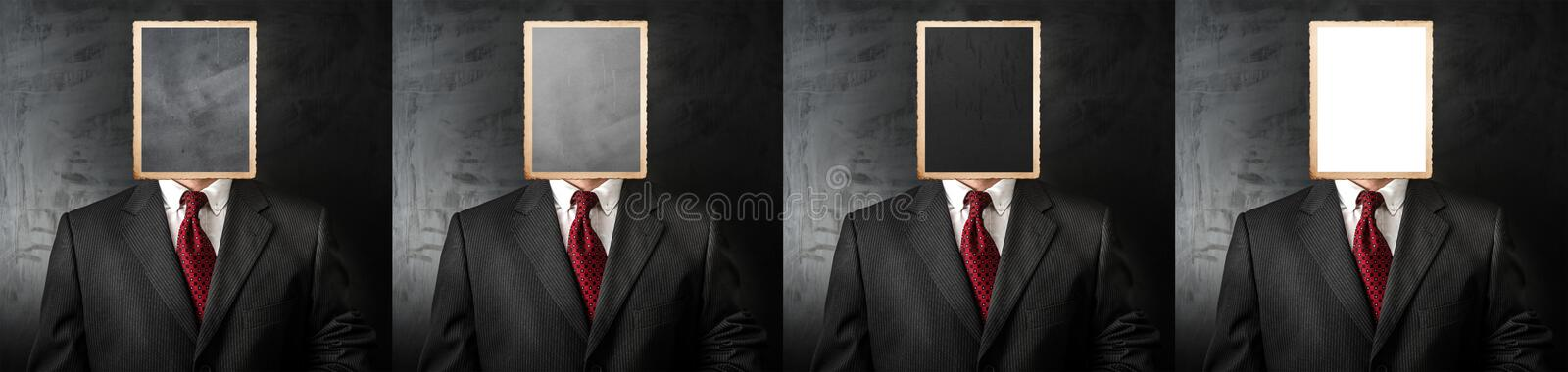 Four candidates job interview royalty free stock photography