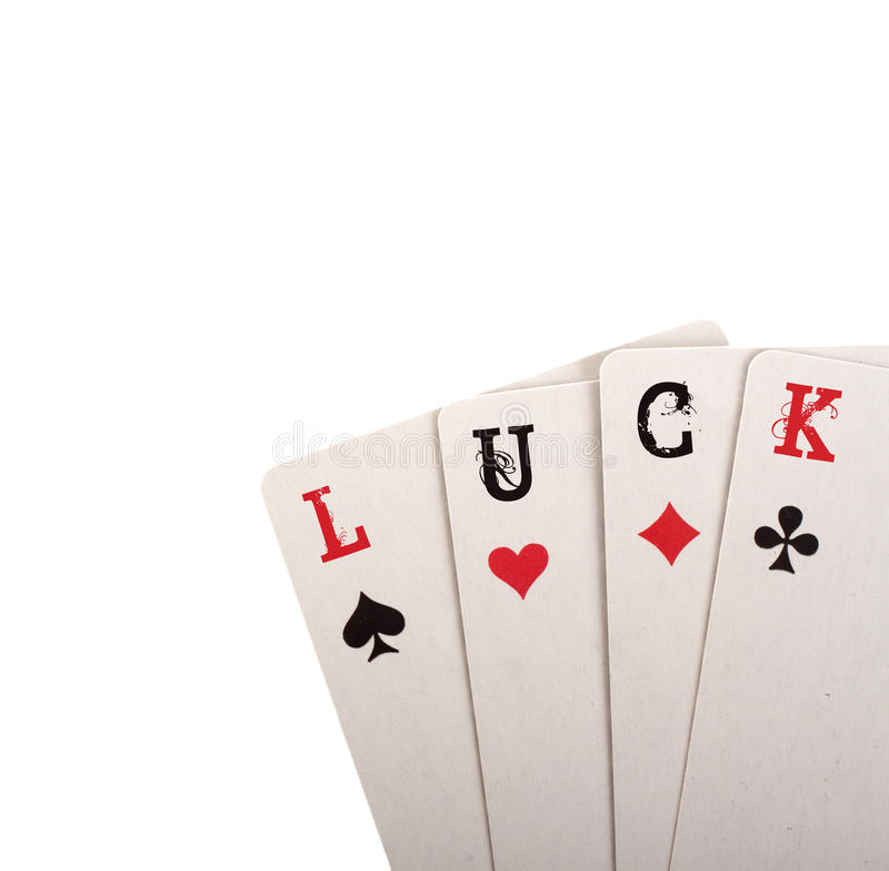 Four card. Luck concept. With copyspace stock photos