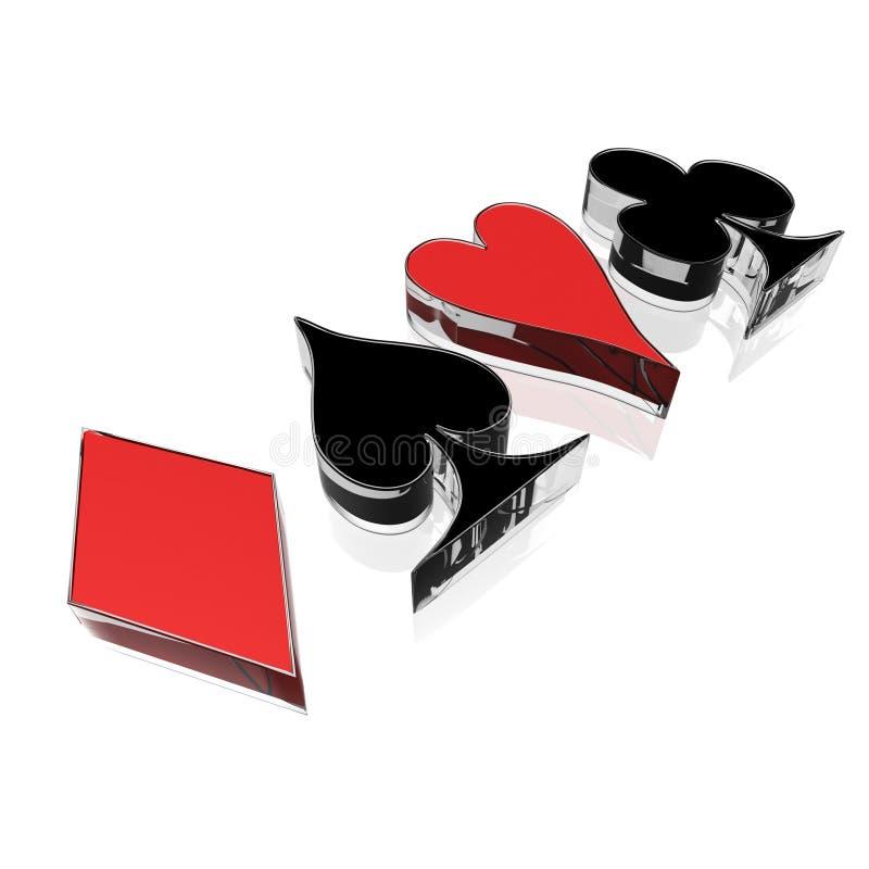 Download Four card suit stock illustration. Image of pattern, joker - 22878516
