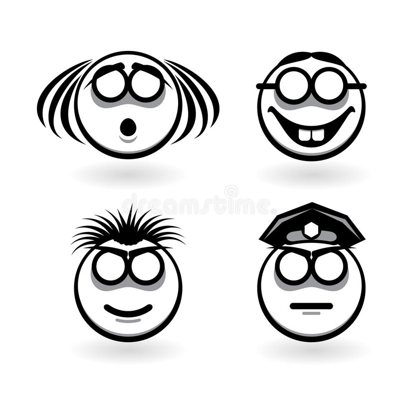 Download Four Cartoon Of Abstract Emotions Stock Photography - Image: 19390152