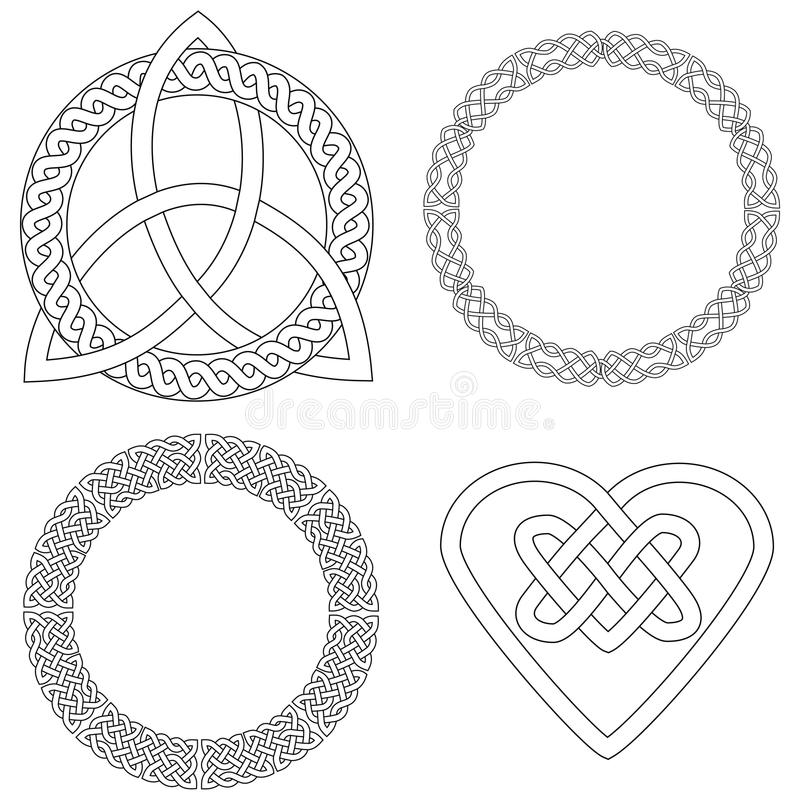 Four Celtic Designs vector illustration
