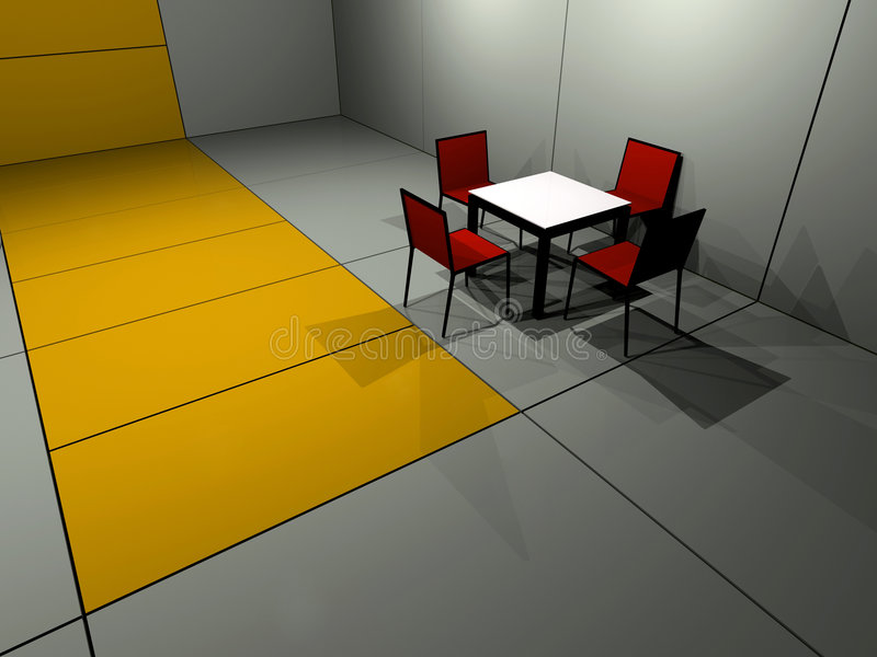 Four chair table stock illustration