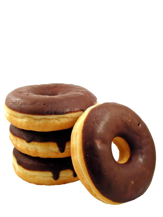 Download Four chocolate doughnuts stock photo. Image of donuts - 16852488